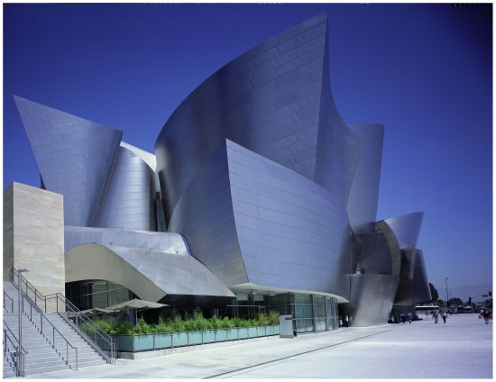 Disney Hall in Los Angeles designed by Frank Gehry (Photo by Julius Shulman and Juergen Nogai)