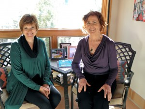 Darlene Chandler Bassett, founder and president of A Room of Her Own Foundation, and writer Mary Johnson (Photo by Richard Startzman)