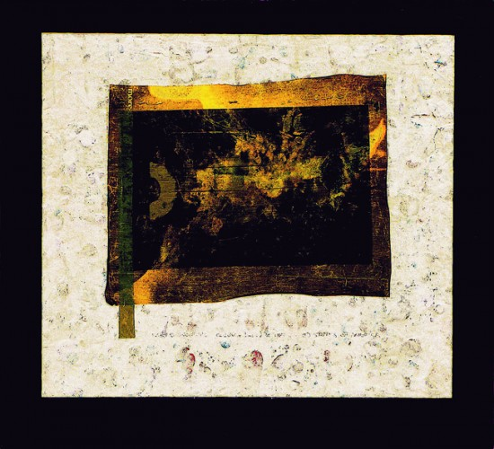 Joseph Bernard, Losing WW III, 2006. Acrylic Paint & Collage on Wood Panel, 22 inches (56cm) x 24 inches (61cm)