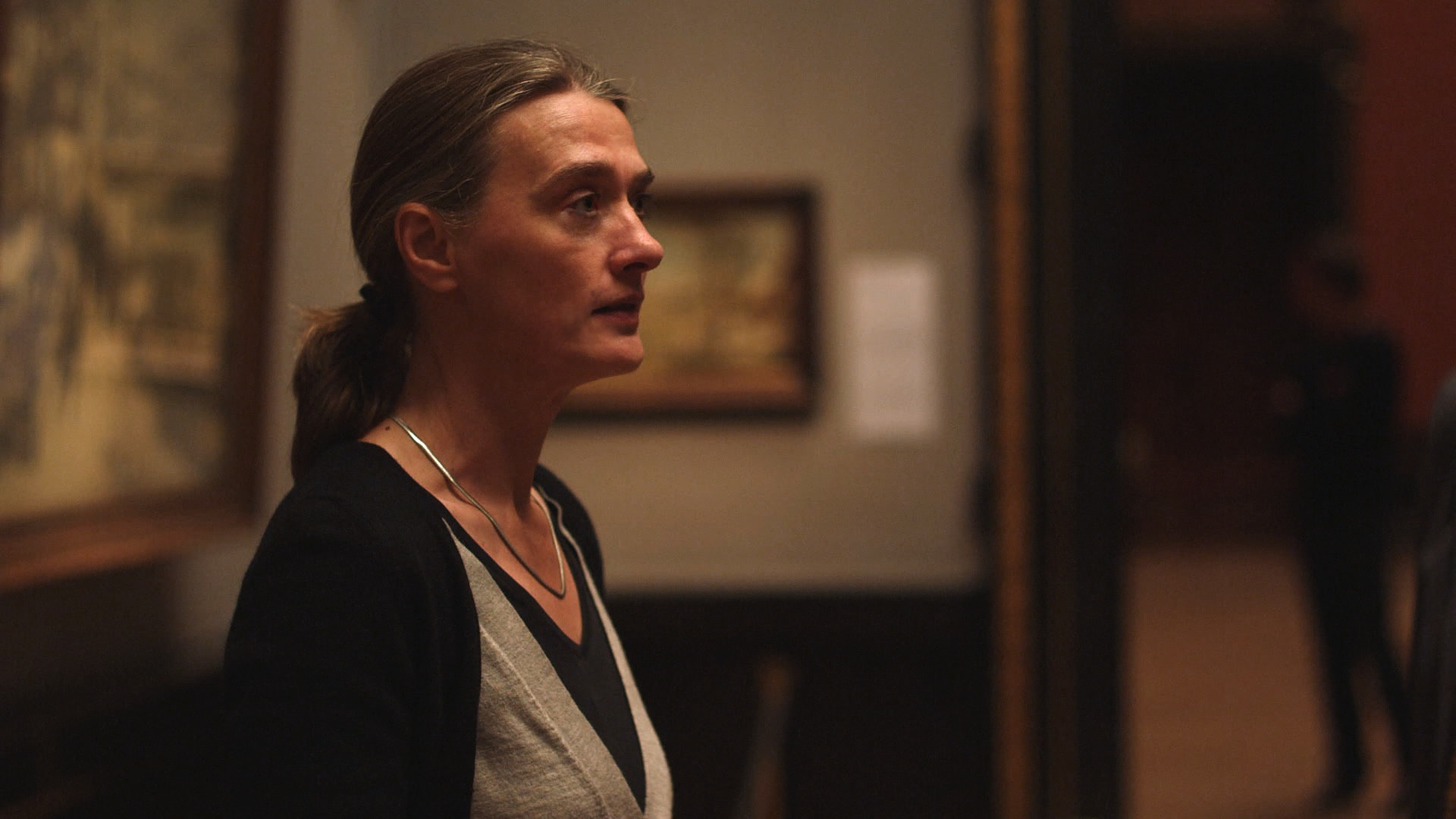 Ela Piplits plays a docent at the Kunsthistorisches Museum in the film
