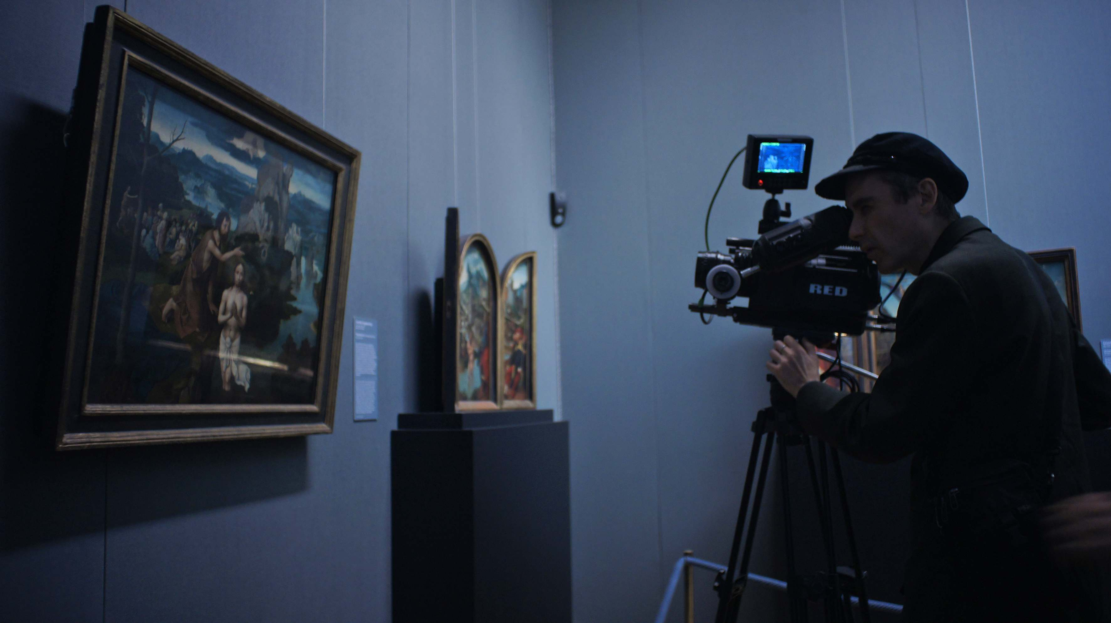 Cohen shooting footage for Museum Hours in the Kunsthistorisches Art Museum
