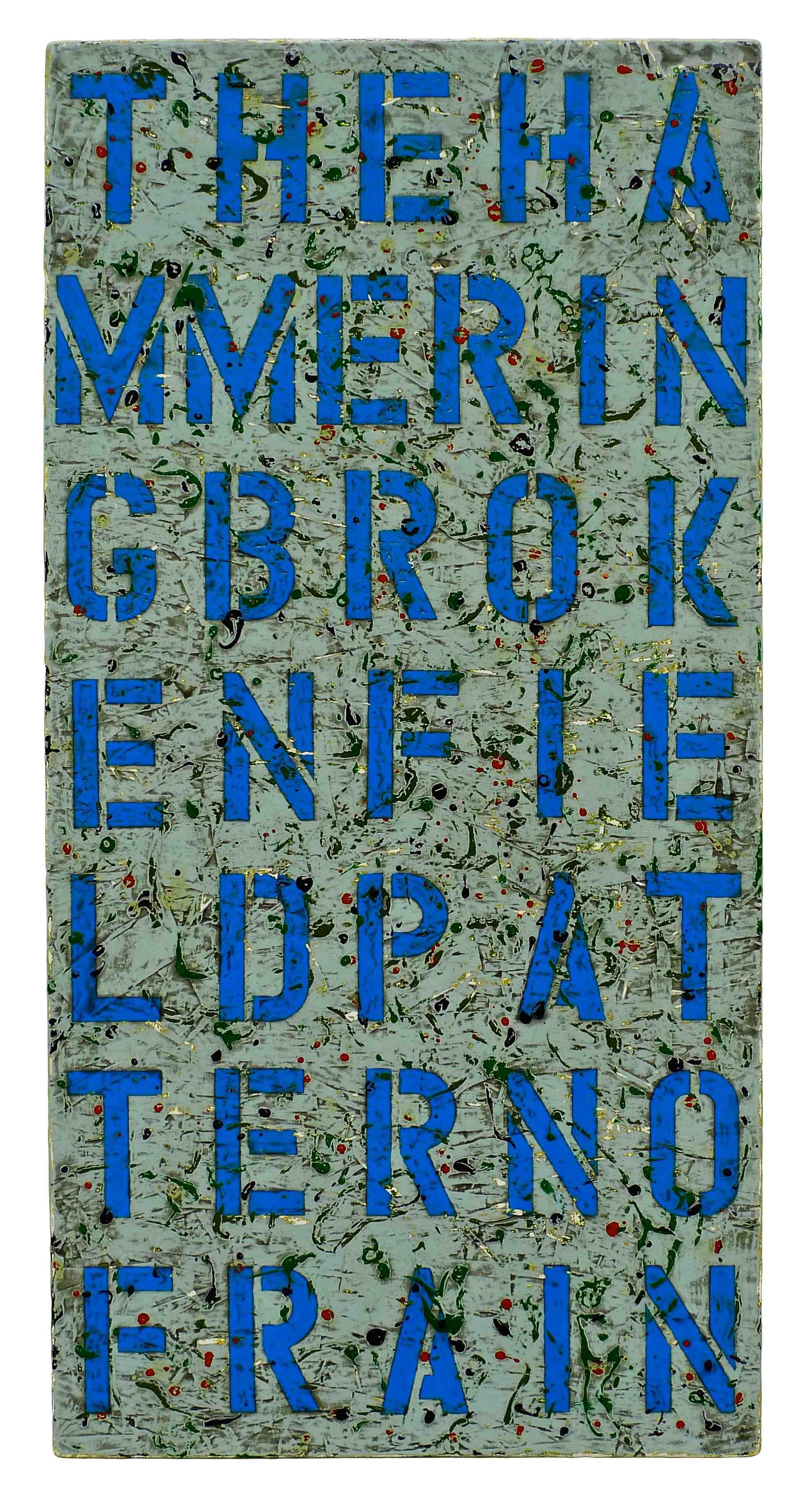 Joseph Bernard, Of Rain, 2007. Acrylic & Varnish on Wood Panel/OSB. 48 inches x 24 inches (Sold)