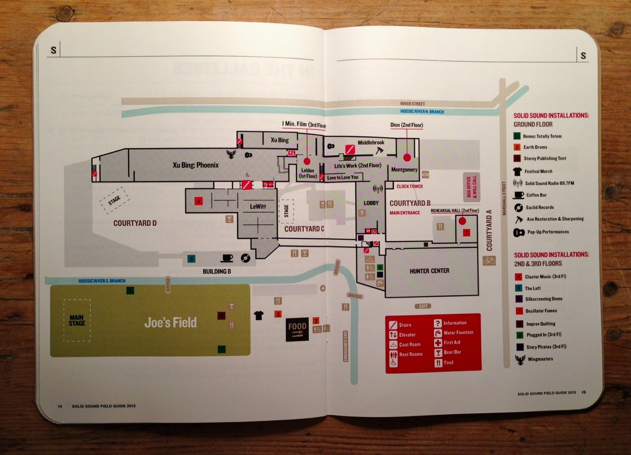 A map of the festival (Photo by Michelle Aldredge)