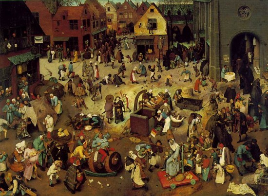 Pieter Brueghel the Elder, The Fight between Carnival and Lent, 1559. Oil on panel, 118 x 164.5 cm (Image courtesy Kunsthistorisches Museum, Vienna, Austria)