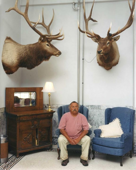 Jim Harrison with Elk