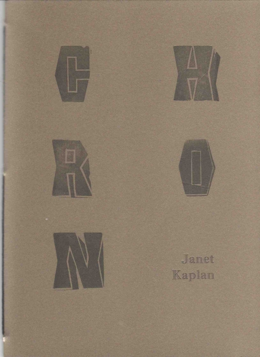 Kaplan's most recent publication is Chronicles, a hand-sewn, letterpress book from Press Board Press with a limited-edition, print run of 100 copies (available here for $10).