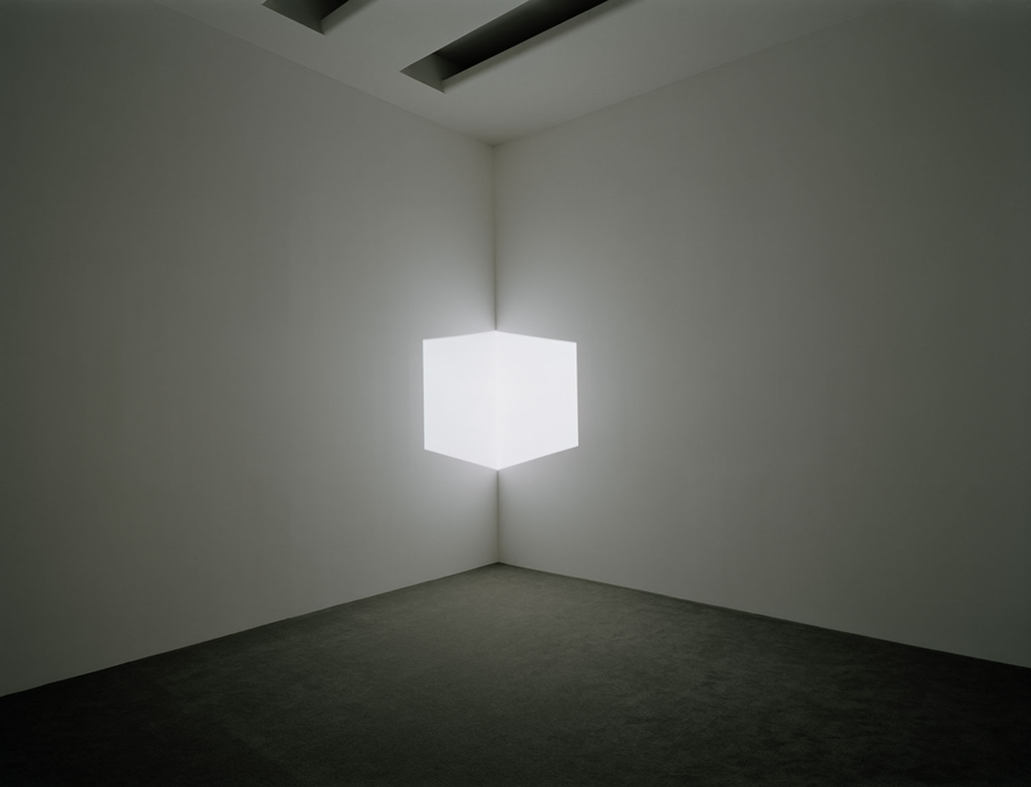 James Turrell Afrum I (White), 1967 Projected light, dimensions variable Solomon R. Guggenheim Museum, New York, Panza Collection, Gift 92.4175 © James Turrell Installation view: Singular Forms (sometimes repeated), Solomon R. Guggenheim Museum, New York, March 5–May 19, 2004. Photo: David Heald © Solomon R. Guggenheim Foundation, New York