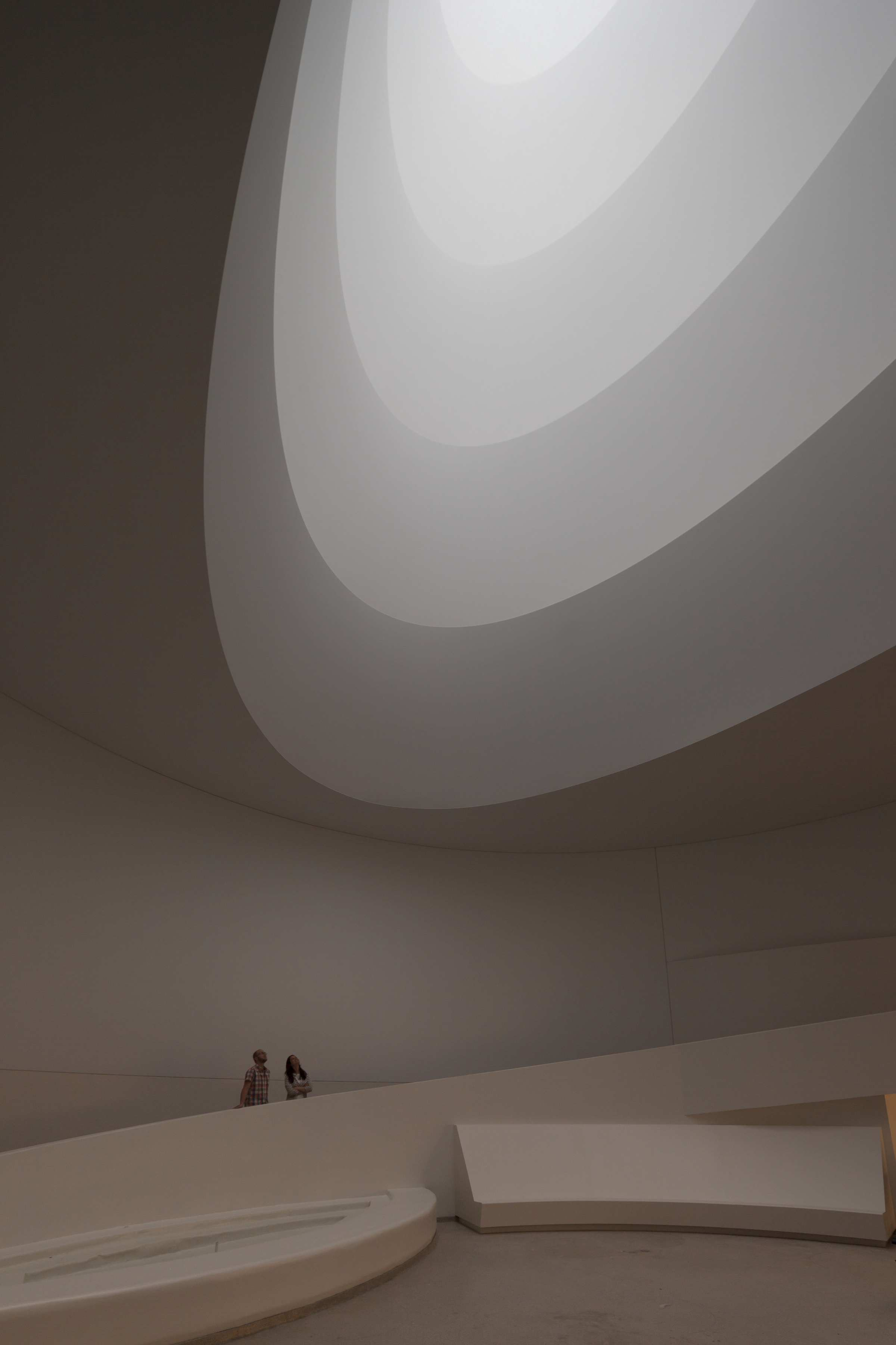 James Turrell Aten Reign, 2013 Daylight and LED light, dimensions variable © James Turrell Installation view: James Turrell, Solomon R. Guggenheim Museum, New York, June 21–September 25, 2013 (Photo: David Heald © Solomon R. Guggenheim Foundation, New York