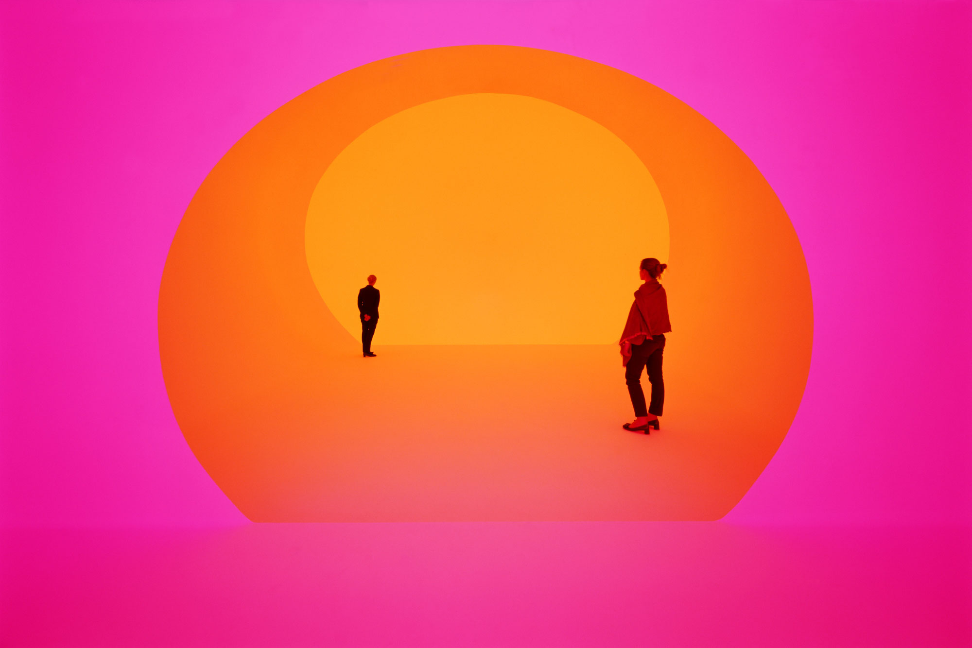 A new Turrell work at the Shops at Crystals in Las Vegas. The piece, tucked away on the third floor of Louis Vuitton, was commissioned by the French design house and is open to only four people at a time. (Photo by Florian Holzherr © James Turrell)