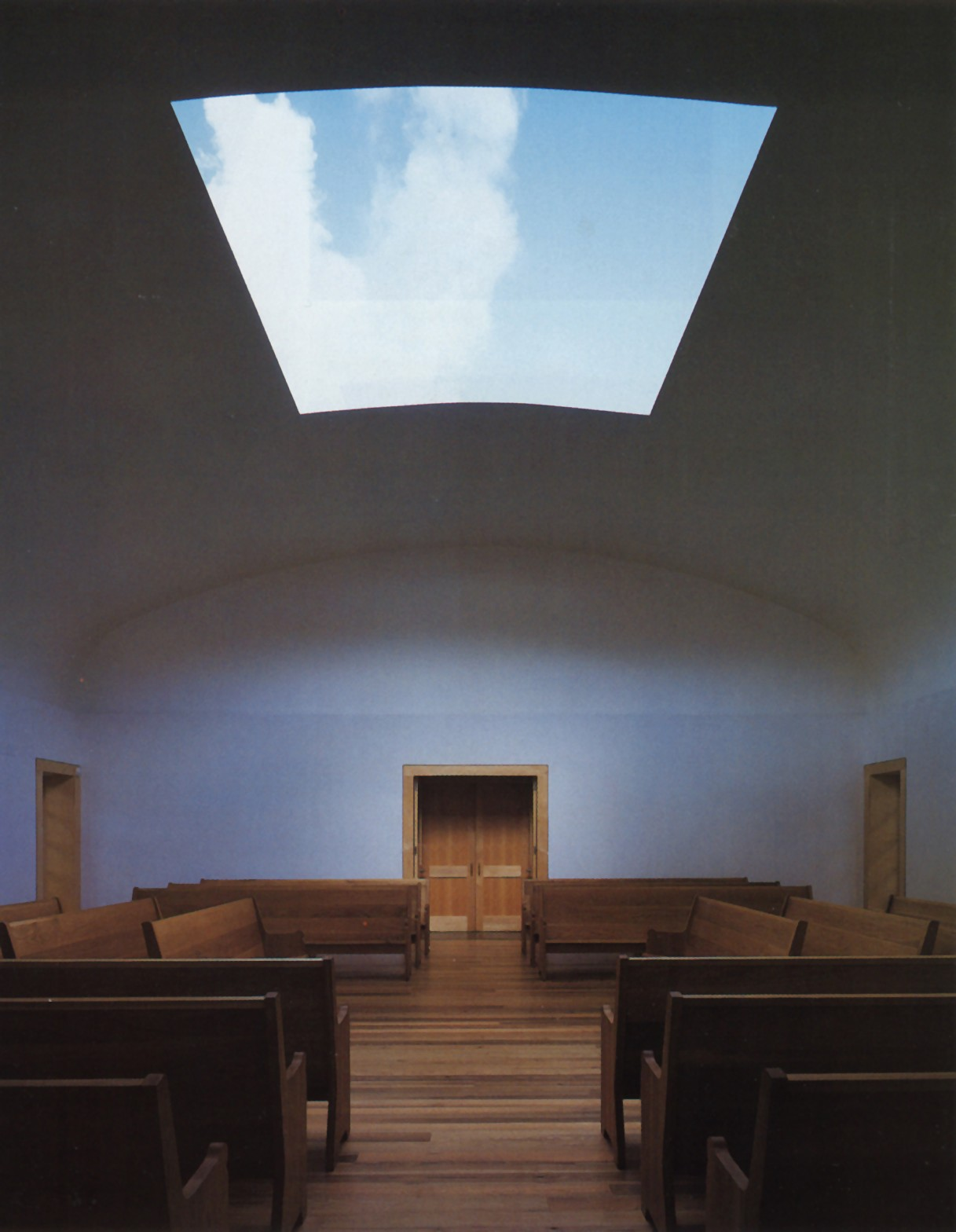 "Skyspace by James Turrell: the ""convertible roof"" of the Live Oak Friends Meeting House in Houston.  Photo: Joe Aker"