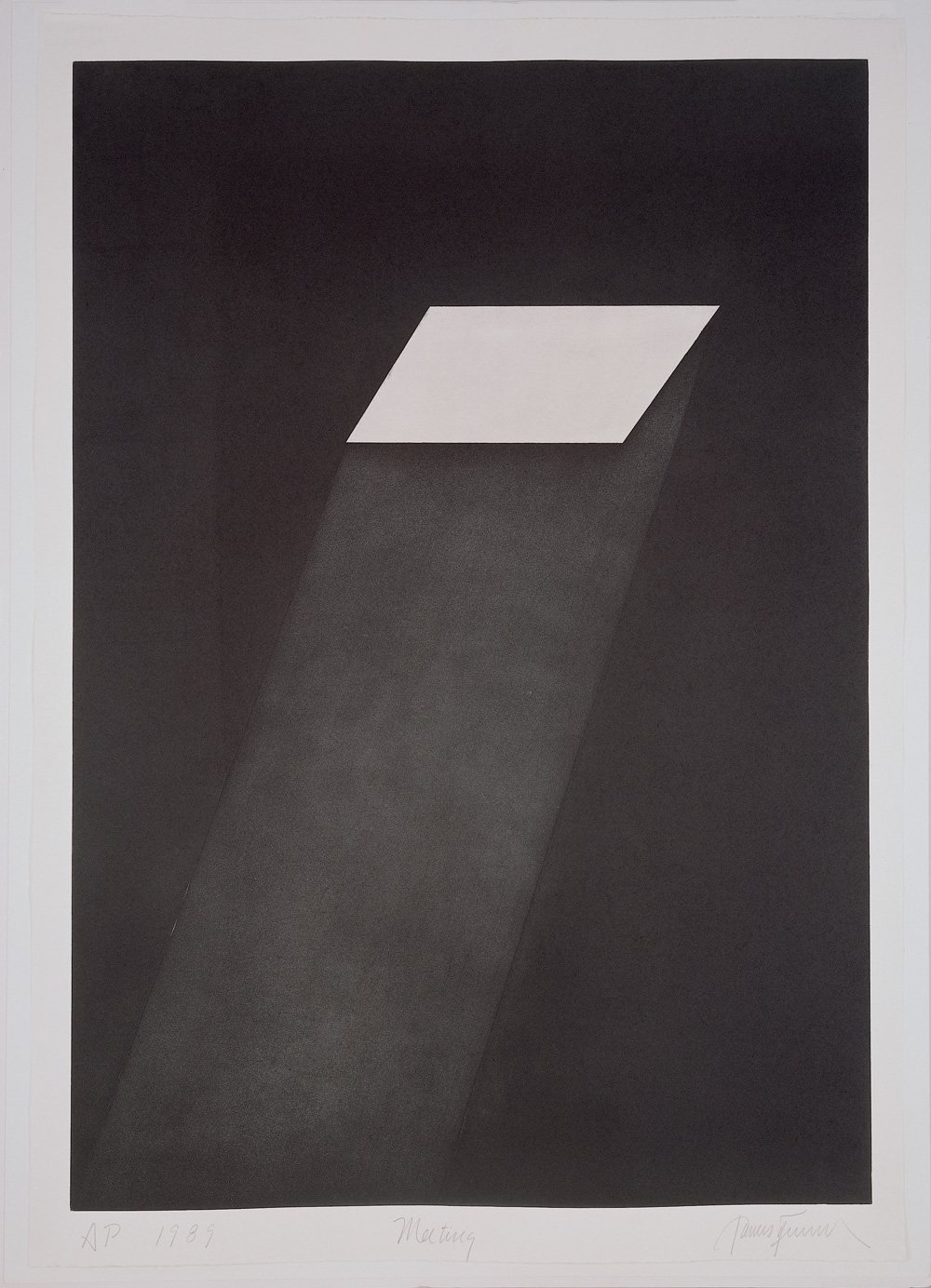 James Turrell Meeting (from the portfolio First Light), 1989–90 Aquatint, 108 x 75.6 cm © James Turrell Photo: Courtesy Peter Blum Edition, New York