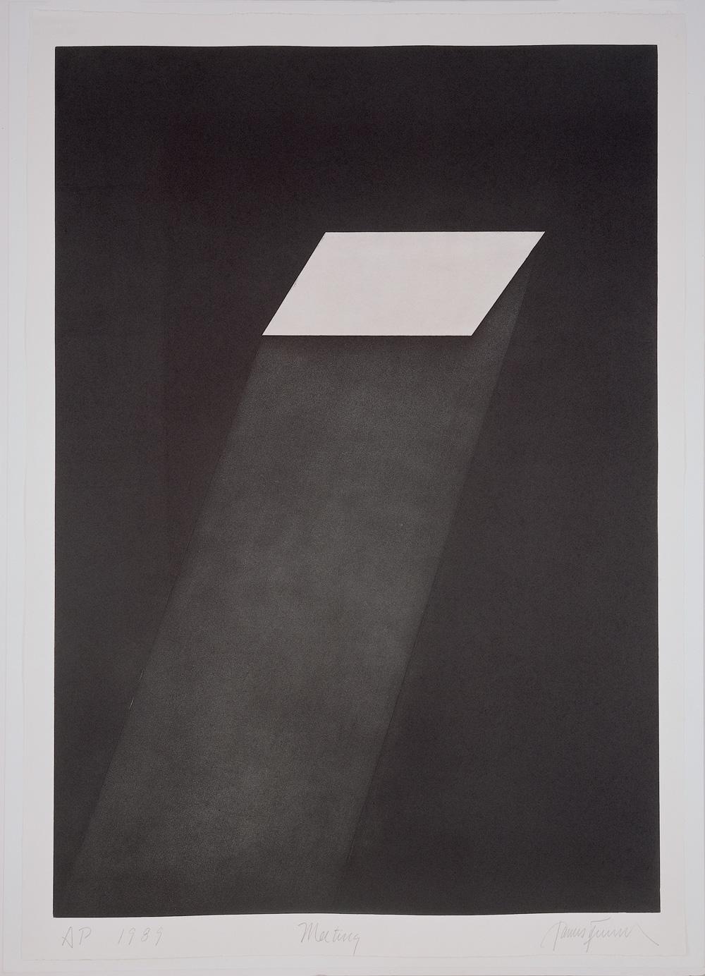 James Turrell Meeting (from the portfolio First Light), 1989–90 Aquatint, 108 x 75.6 cm © James Turrell Photo: Courtesy Peter Blum Edition, New York
