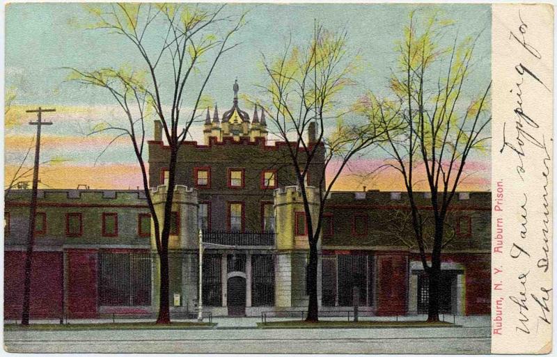 Prison Postcard-Auburn Prison, New York