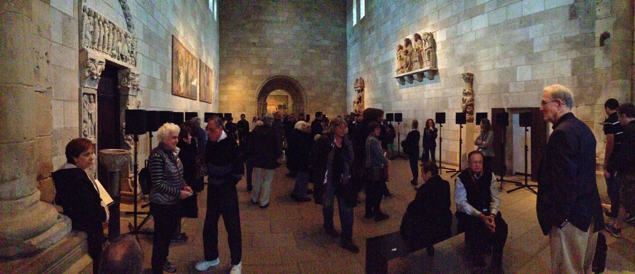 Janet Cardiff's The Forty Part Motet at the Cloisters (Photo by Michelle Aldredge)