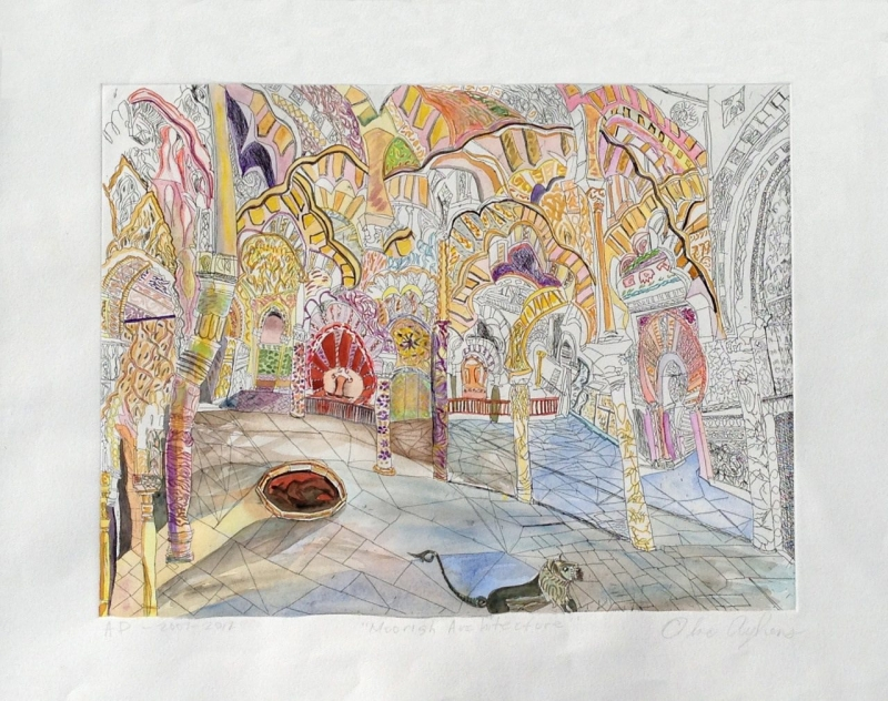 Olive Ayhens-Moorish Architecture-Full Painting-FINAL 2
