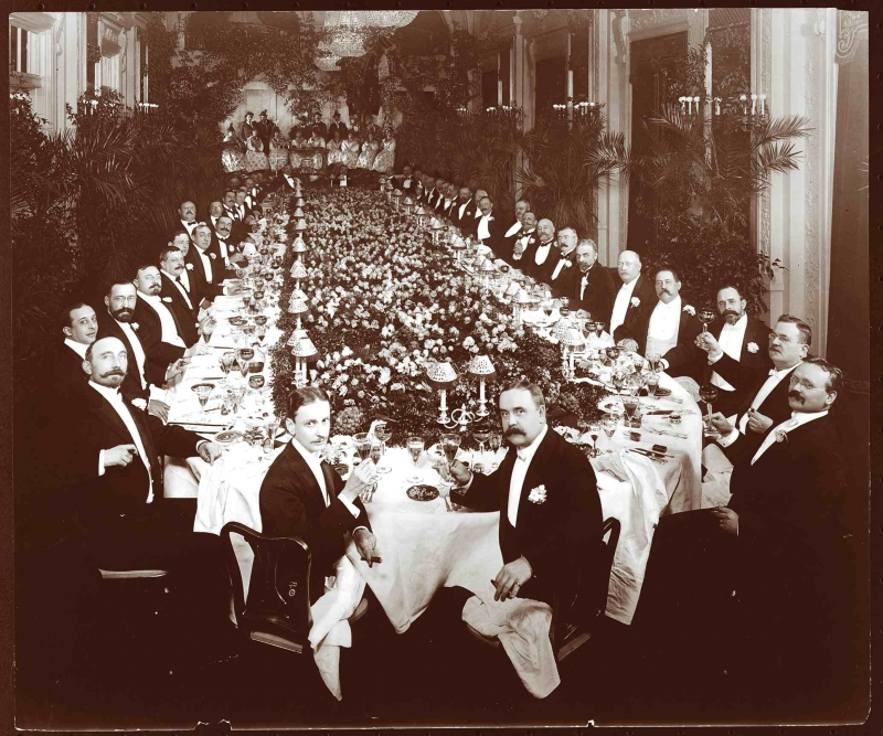 The richest Americans showed off their wealth by throwing banquets for one another featuring the costliest and rarest delicacies, including diamondback terrapin and canvasback duck. (Photo: Hotel Astor on December 7, 1904. (PHOTO)