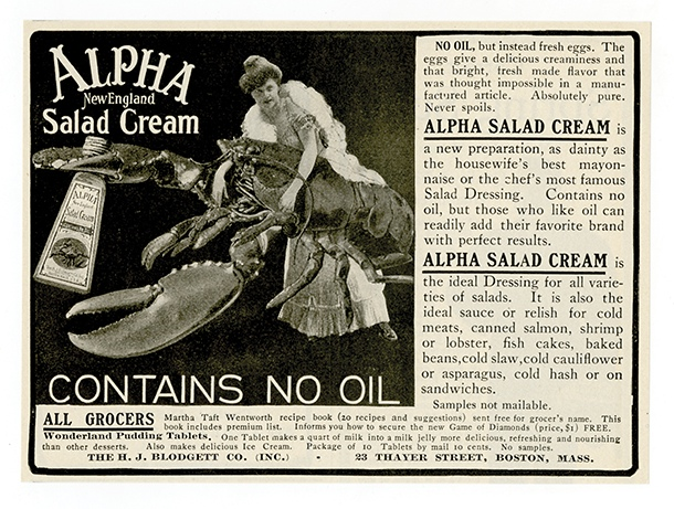Alpha New England Salad Cream, 1903