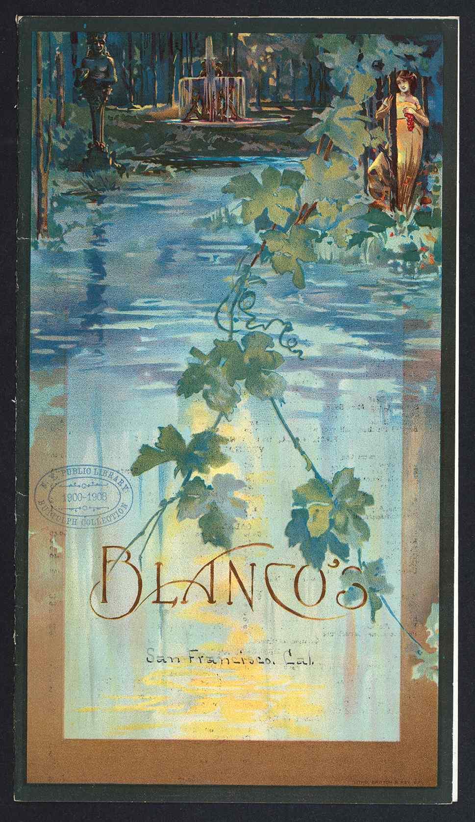 Blanco's Menu