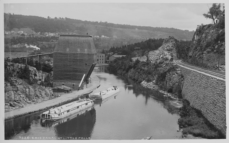 """Erie Canal at Little Falls"" by William Henry Jackson, photographer (no. 7626 -- Detroit Publishing Co.) 1880-1897? (Photo courtesy the Library of Congress Prints and Photographs Division via eriecanal.org)"