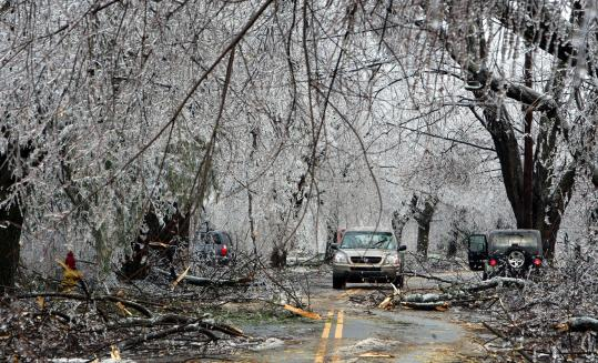 The 2008 ice storm in New England (Photo source unknown)