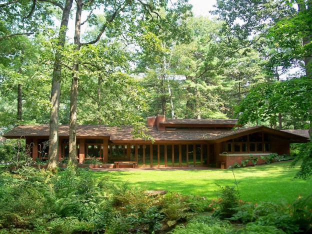 The Zimmerman House in Manchester, New Hampshire, was a Usonian house designed by Frank Lloyd Wright (Photo by mmwm-Flickr via WBUR)