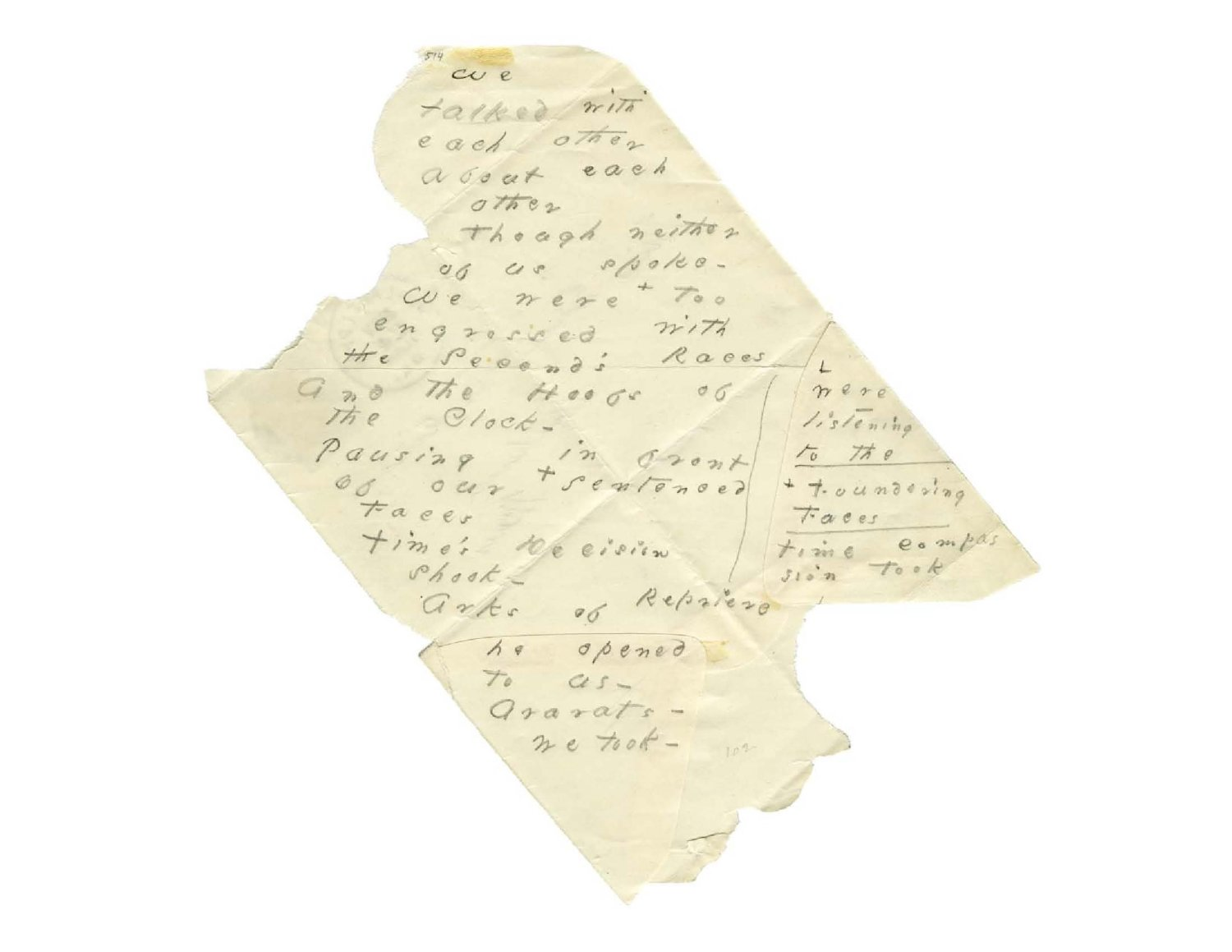 One of Emily Dickinson's envelope poems from The Gorgeous Nothings (Photo courtesy New Directions)