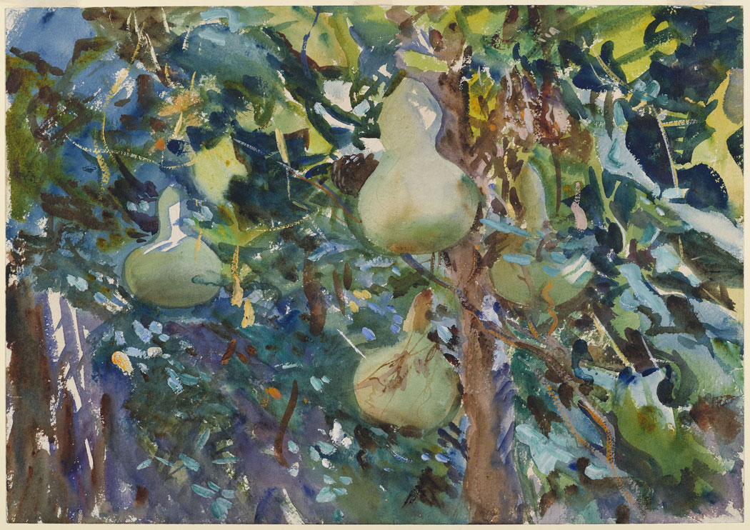 John Singer Sargent, Gourds, 1908. (Photo courtesy MFA Publications via WBUR.org)
