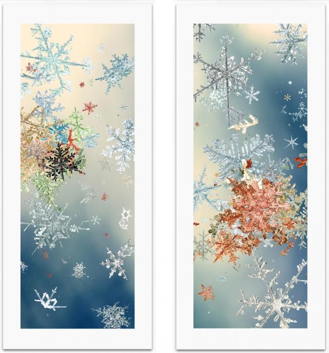 Mike and Doug Starn, Snowfall #3 and #4, 2006-2007.