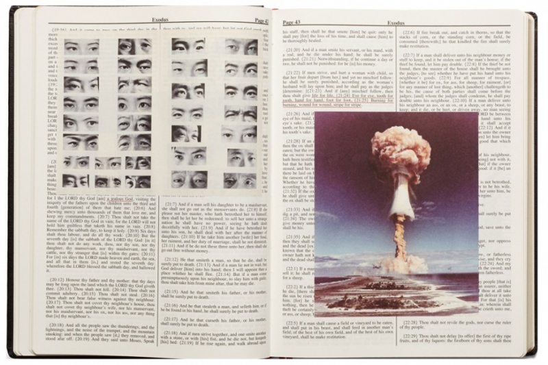 Pages from Adam Broomberg's Holy Bible (Photo via anothersomething.org)