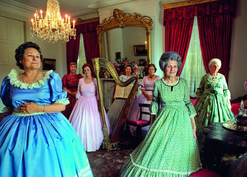 nathan-benn-Ladies in Hoopskirts