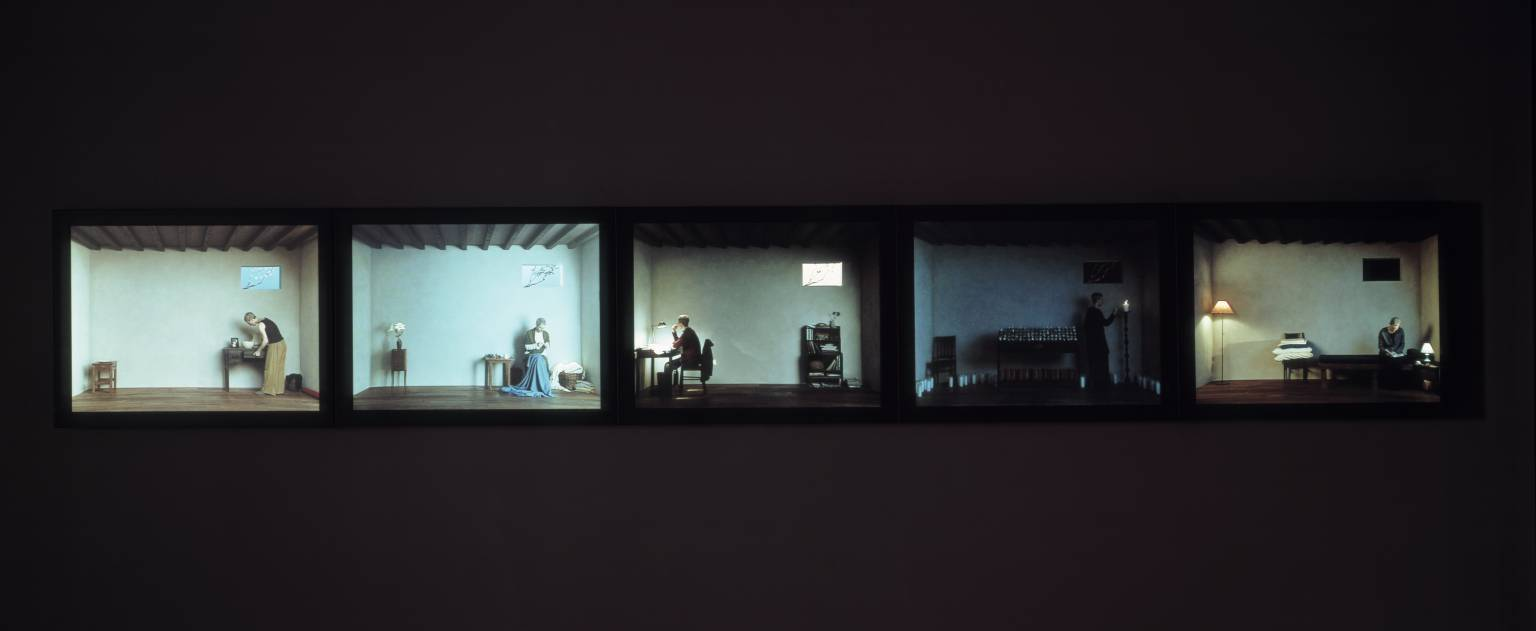 Bill Viola, Catherine's Room, 2001. Video installation. Acquired jointly with the National Galleries of Scotland through The d'Offay Donation with assistance from the National Heritage Memorial Fund and the Art Fund 2008.