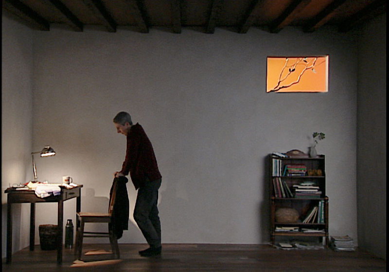 A still from Bill Viola's video installation Catherine's Room (Photo © Bill Viola)
