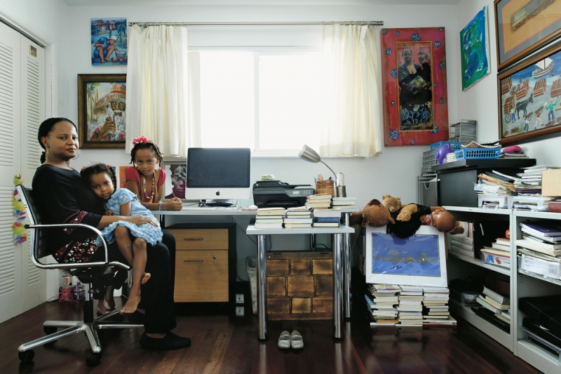 Writer Edwidge Danticat in her office (Photo © John Sprinks via the New York Times Magazine)