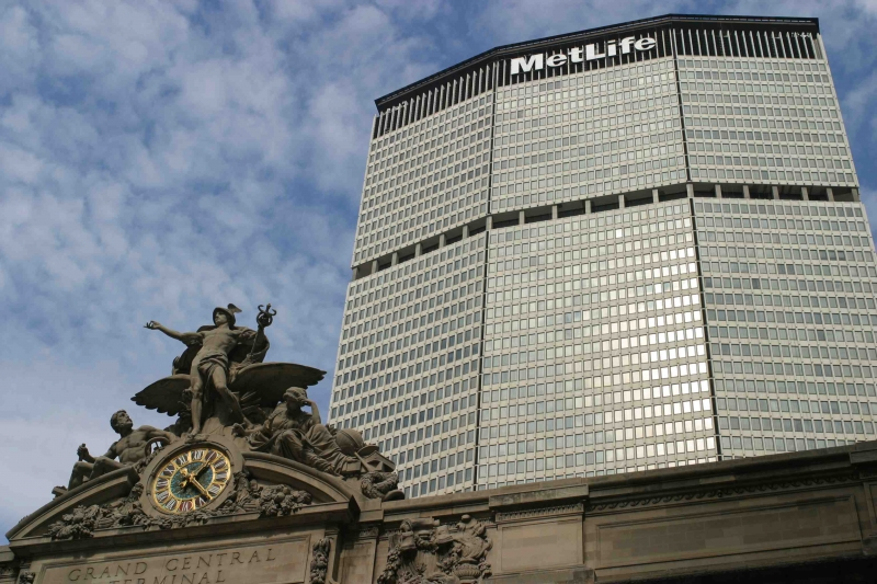 The MetLife building towering over Grand Central Station (Photo via Wikipedia)