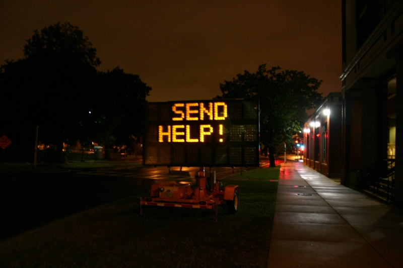A Boston street sign hacked by MIT students. (Photo by Alessondra Springmann)