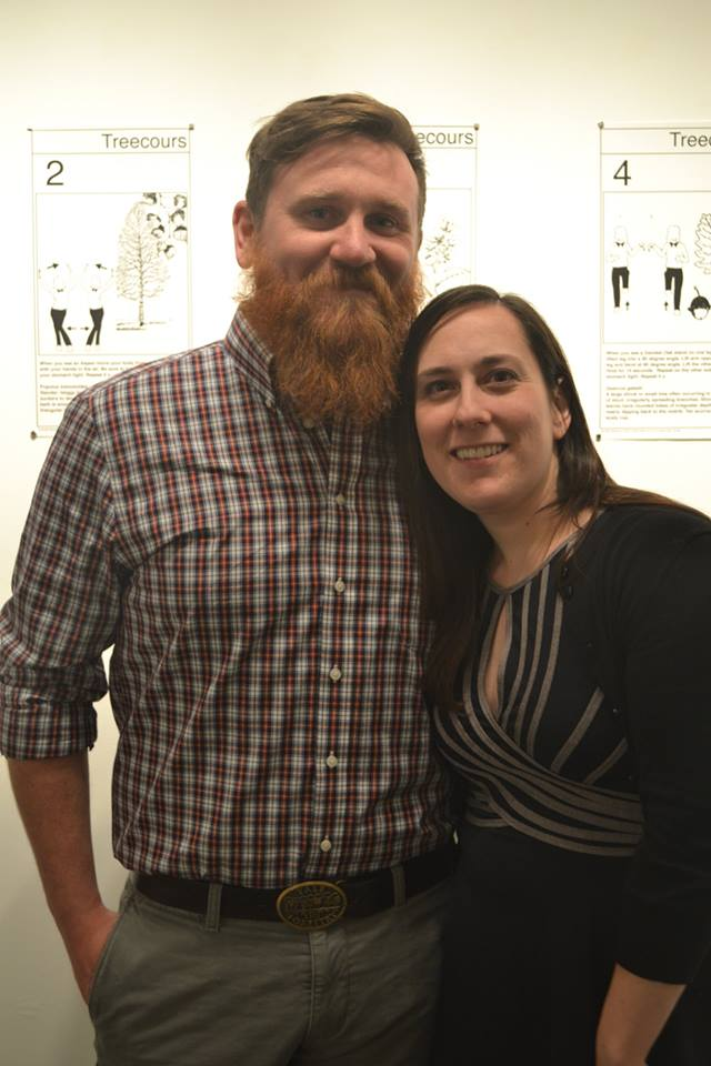Steve Roberge and Rachelle Beaudoin at the opening for Let's Work it Out (Photo courtesy the artist)