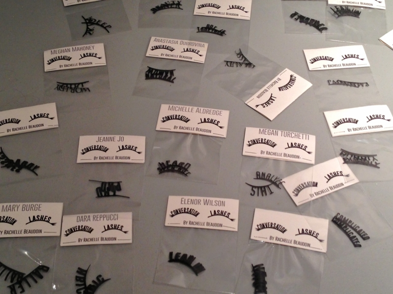 A selection of Rachelle Beaudoin's Conversation Lashes (Photo by Michelle Aldredge)