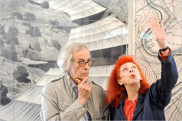 Collaborative artists Christo and Jeanne Claude