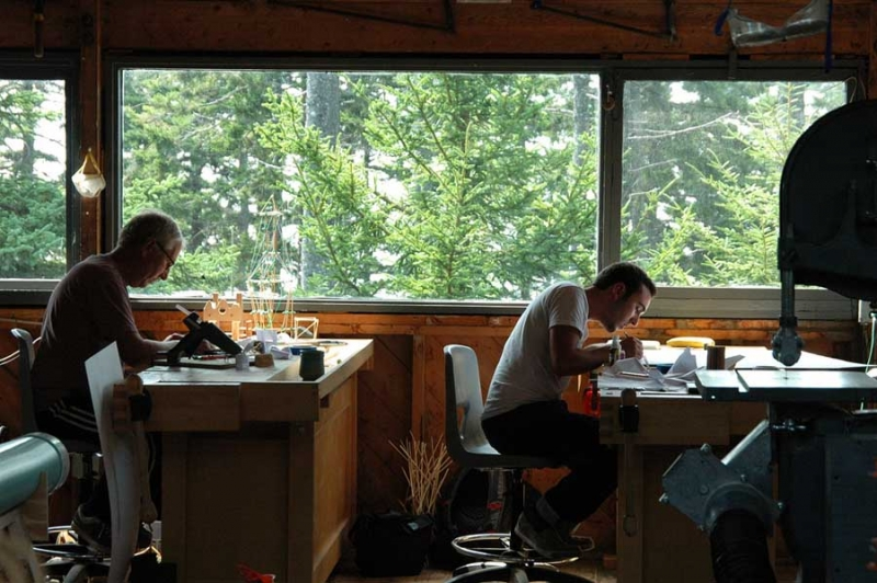 Haystack Mountain School in Deer Isle, Maine,  is just one of the many programs that offers workshops, classes, and residencies for artists seeking instruction and a community of creative peers. (Photo courtesy Haystack Mountain)
