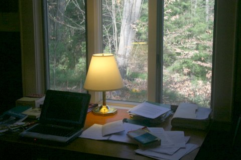 Don's studio, Mansfield, at The MacDowell Colony (Photo by Don Colburn)