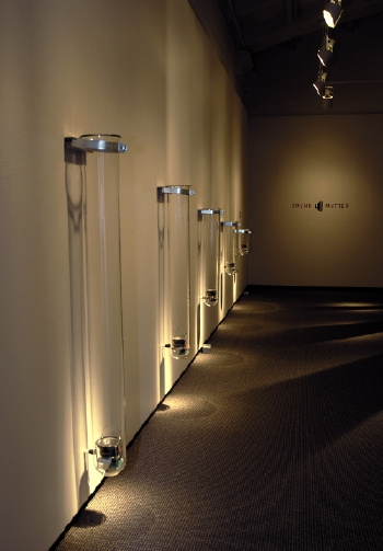Ted Apel, Call and Resonance. Test tubes, electronics, sound. (Photo courtesy the artist)