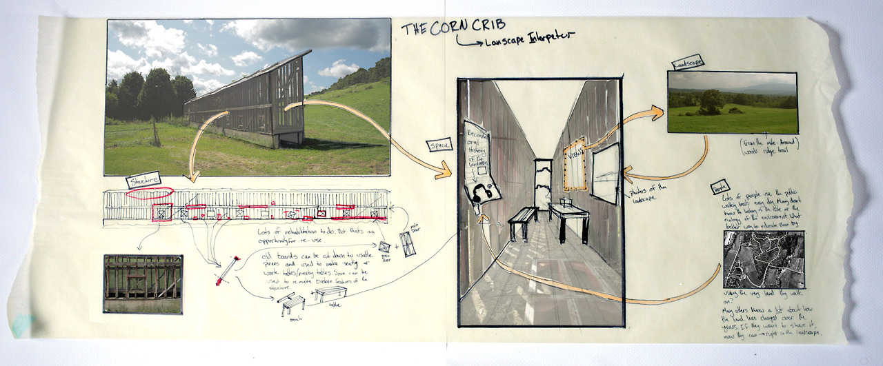 Corn Crib Drawing-Tumblr