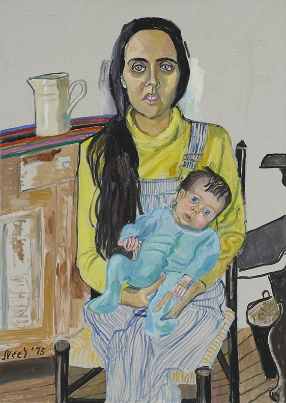 Alice Neel, Ginny and Elizabeth, 1975. Oil on canvas, 42 x 30 inches (Image © Estate of Alice Neel)