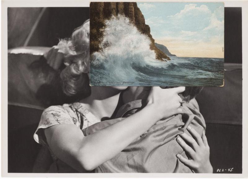 John Stezaker, Untitled (Film Still Collage) LIV, 2013, 20.3 x 25.8 cm (Photo courtesy Mendes Wood, São Paulo via artaddict.net)
